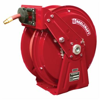 Reelcraft Compact Dual Pedestal Air/Water 3/8 in. Hose Reel - 50 ft.