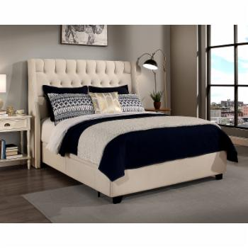 Republic Design House Cambridge Wingback Upholstered Platform Storage Bed
