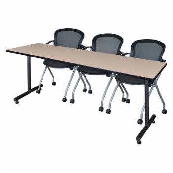 Regency Kobe Training Table with 3 Cadence Nesting Chairs