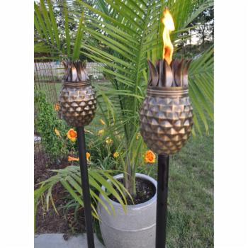 Starlite Garden & Patio Torche Co. Pineapple Antique Torch - Set of 2