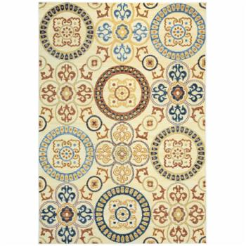 Rizzy Home Carrington Synthetic Fabric Indoor/Outdoor Area Rug