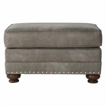 Roundhill Furniture Leinster Faux Leather Upholstered Ottoman