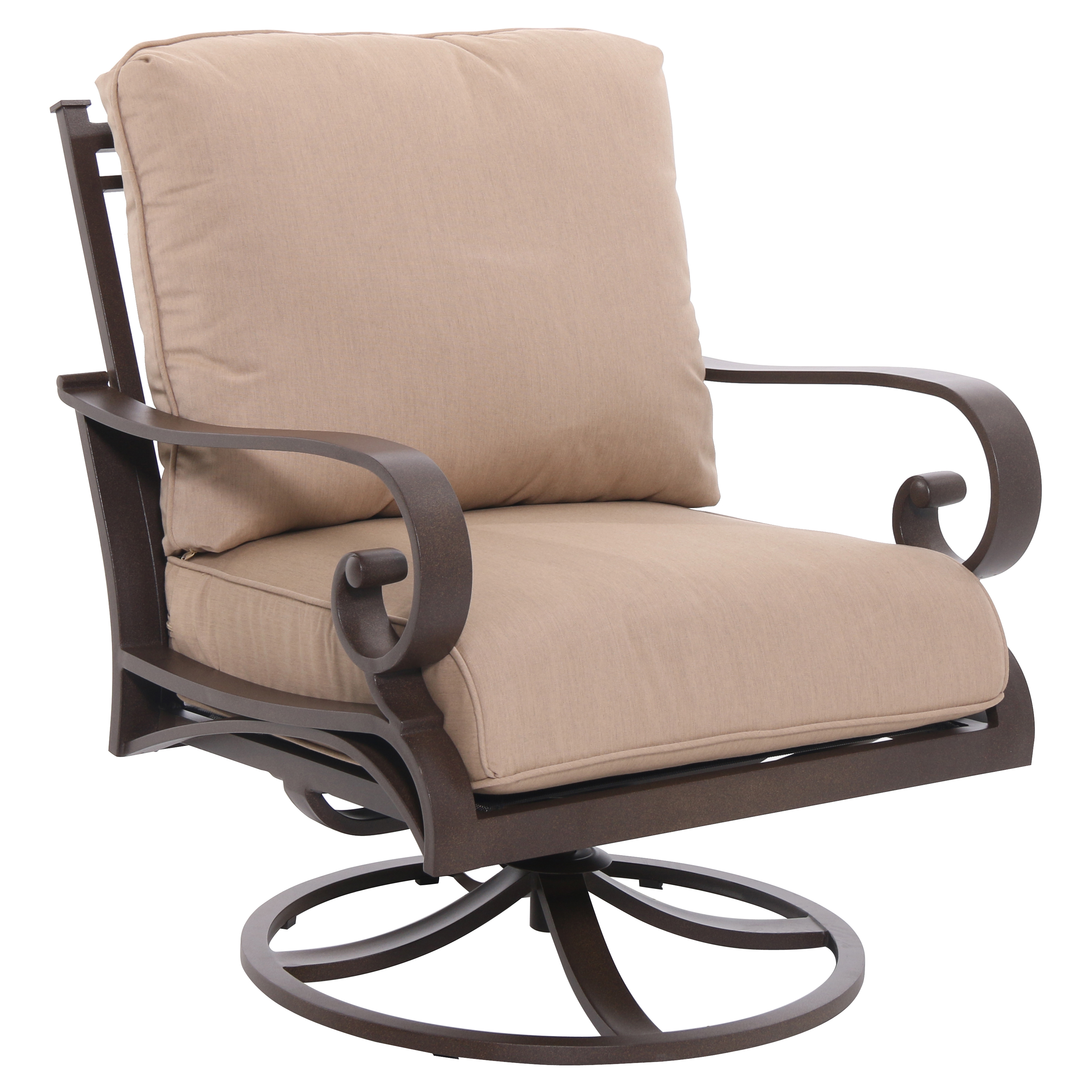 Royal Garden Rivera Patio Swivel Lounge Chair with Cushions
