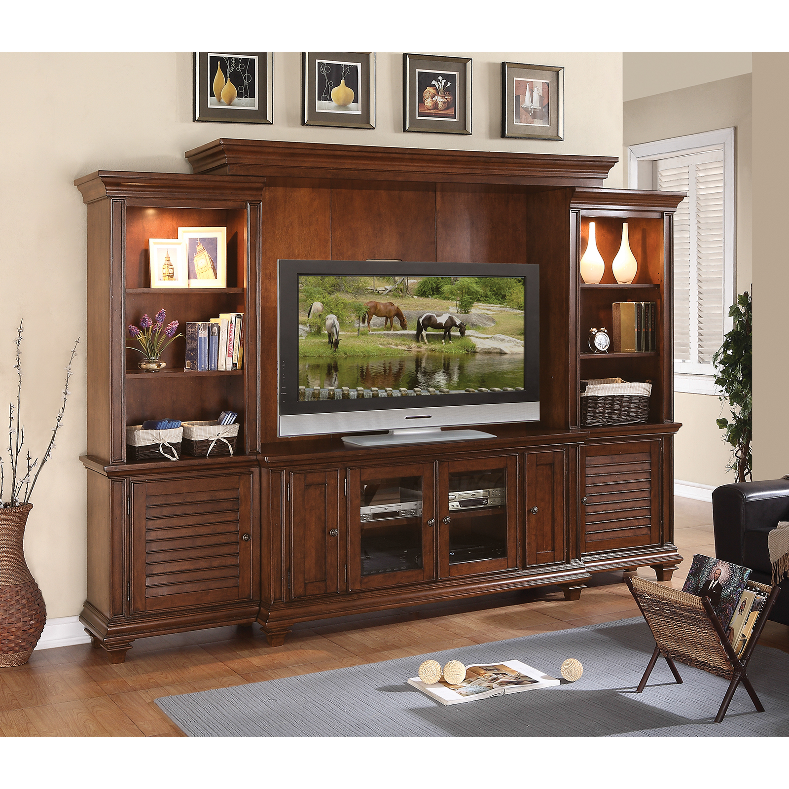 Riverside Windward Bay Entertainment Center Warm Rum