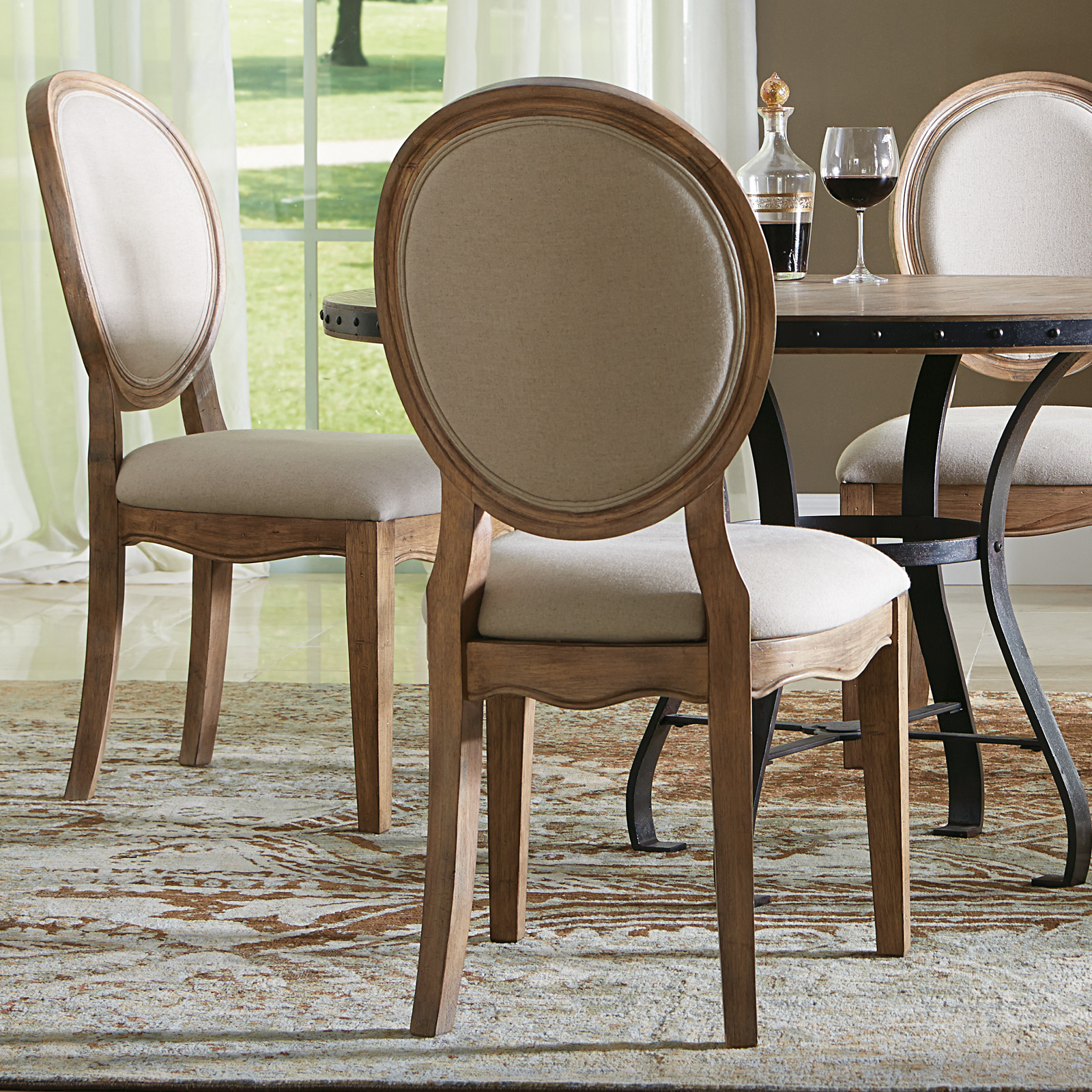 Riverside Sherborne Oval Back Upholstered Side Dining Chairs Set
