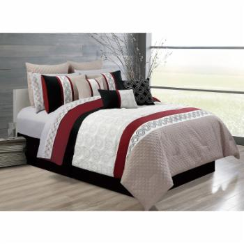 Bistro 7 Piece Comforter Set by Safdie and Co