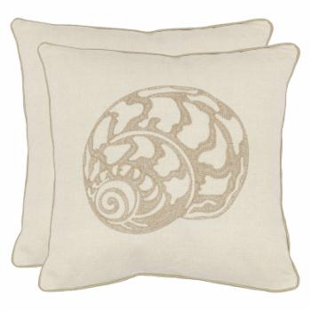Safavieh Kyler 18 in. Decorative Pillows - Creme - Set of 2