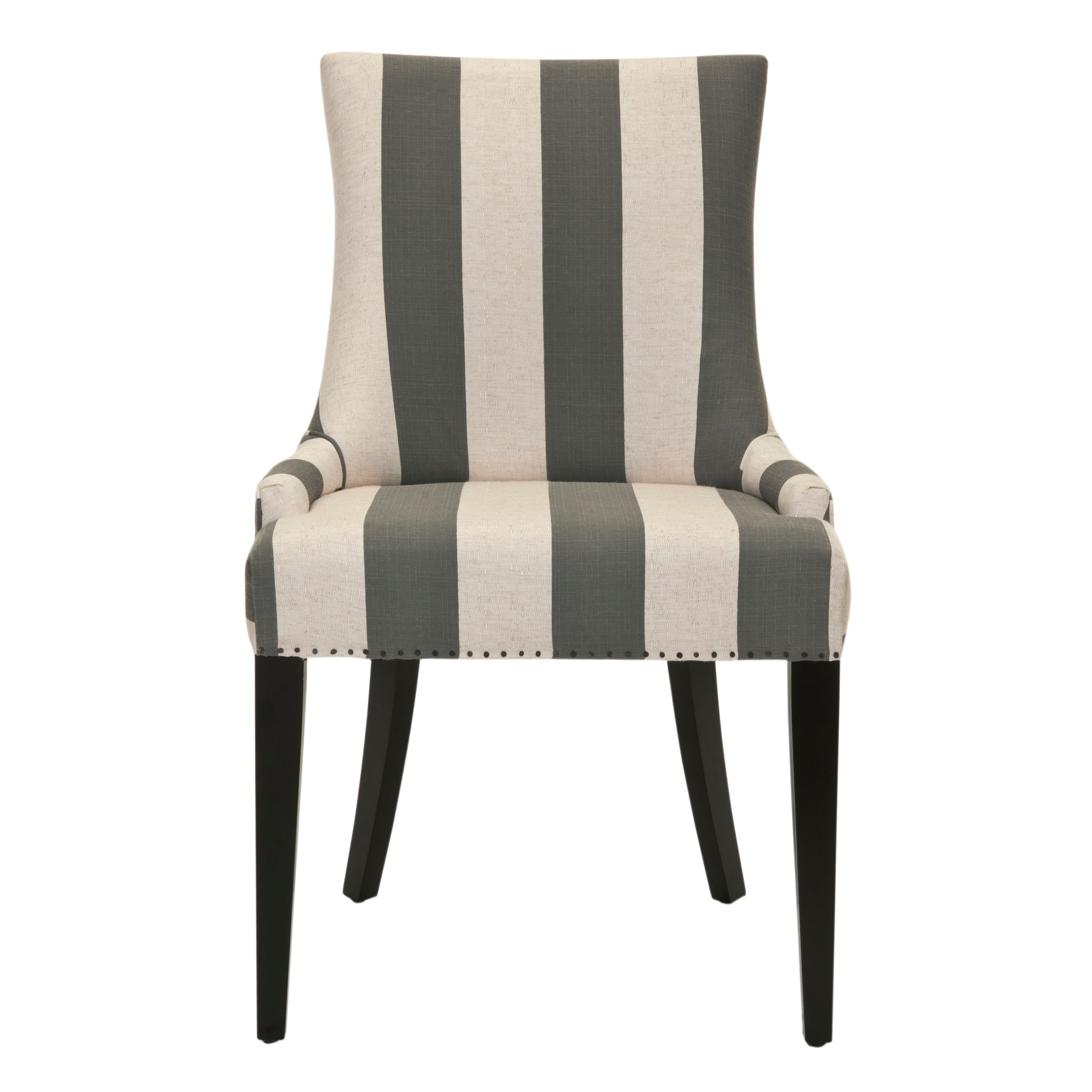 Safavieh Alexia Bold Stripe Fabric Dining Chair Java