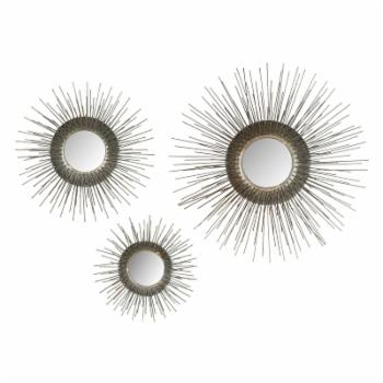 Safavieh Sunburst Triptych Wall Mirror - Set of 3