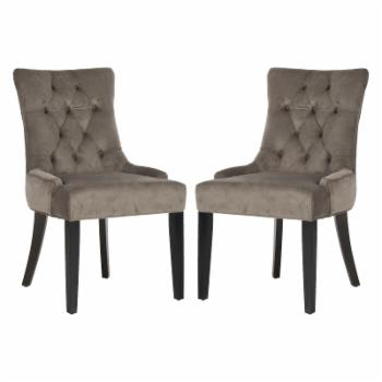 Safavieh Abby Polyester Tufted Side Dining Chairs - Set of 2