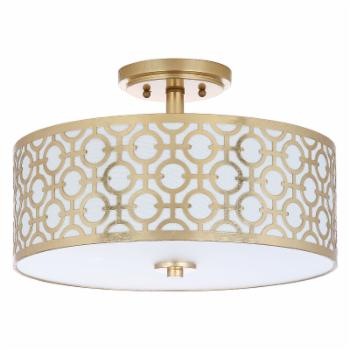 Safavieh Vera Chain Link FLU4001 Semi Flush Mount Light