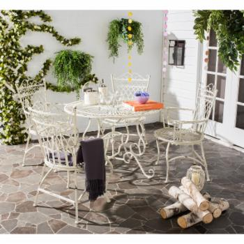 Safavieh Thessaly Metal 5 Piece Outdoor Dining Set