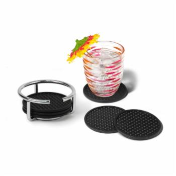 Spectrum Diversified Euro 6 Piece Coasters with Container