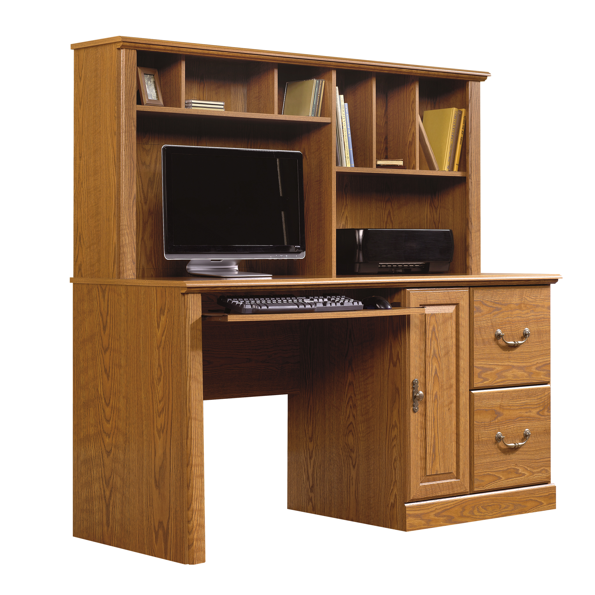 collection hills orchard magnifier with desk sauder computer hutch