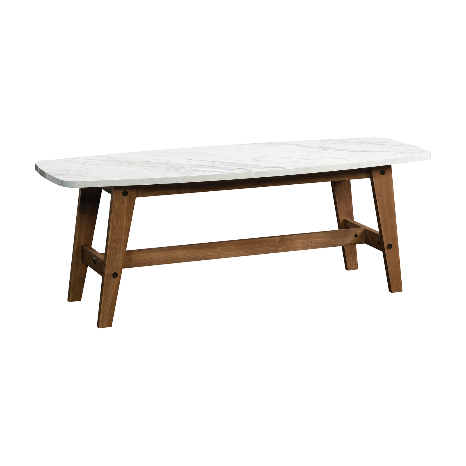 Sauder Soft Modern Coffee Table Hayneedle - Walnut and marble coffee table