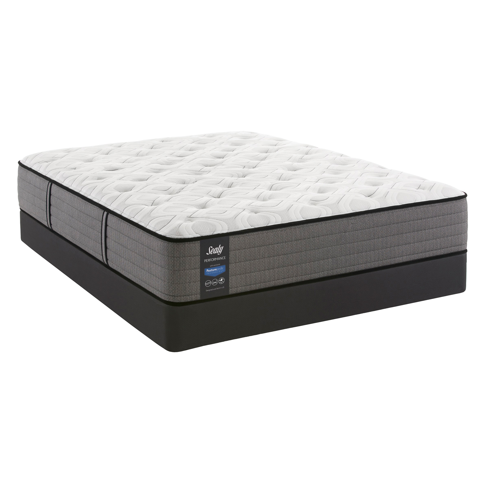 sealy response essentials 10 5 in plush tight top mattress and low