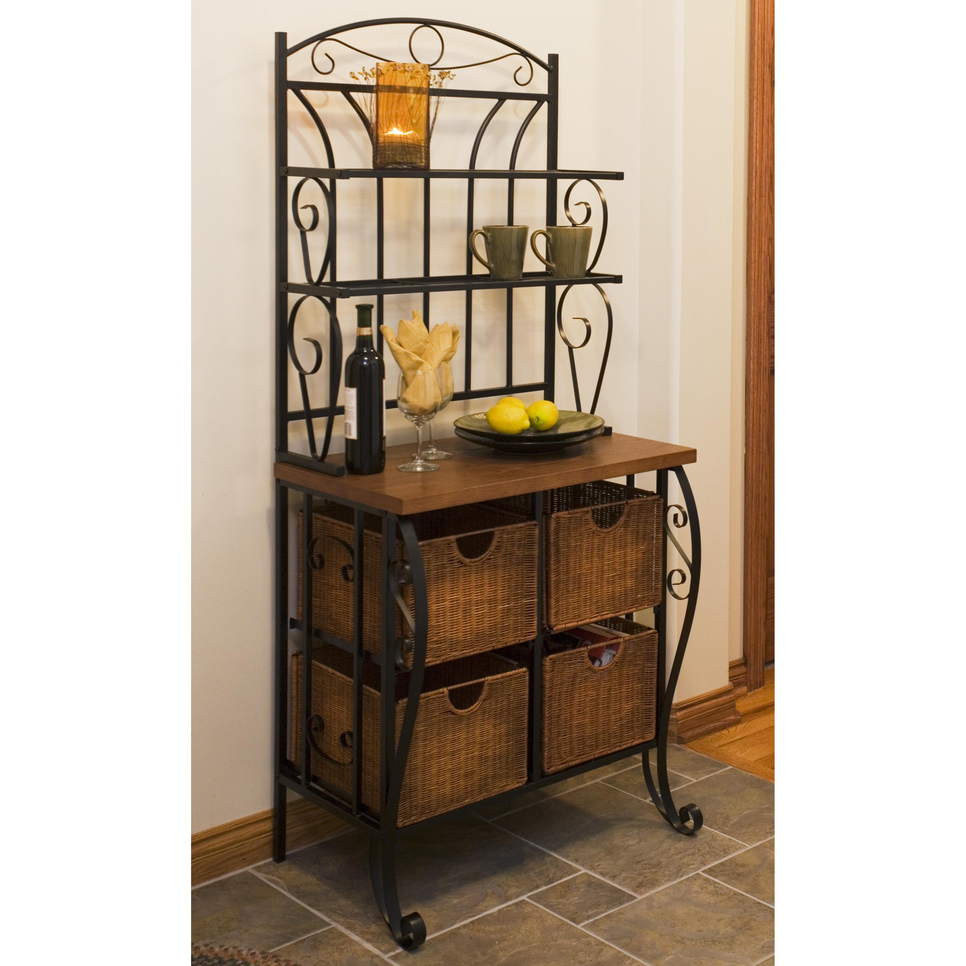 bakers upton iron home drawers free and belize overstock rack garden product shipping today the nomad with wicker curated