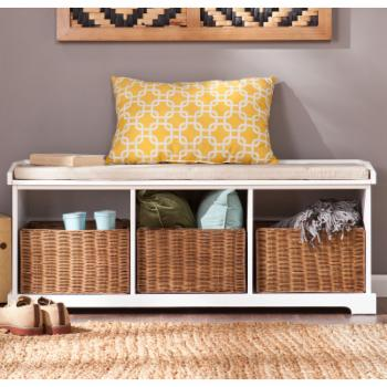 Southern Enterprises Connor Entryway Storage Bench