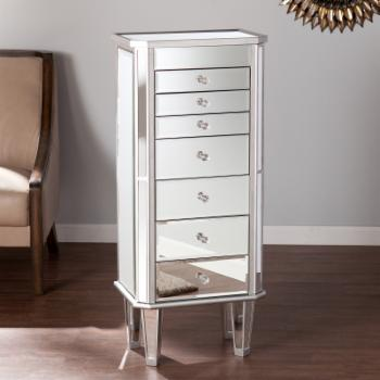 Southern Enterprises Margaux Mirrored Jewelry Armoire