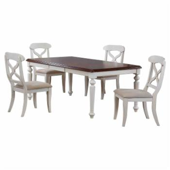 Sunset Trading 5-Piece Andrews Rectangular Butterfly Leaf Dining Table Set
