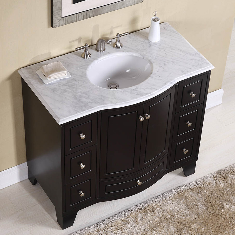 Merveilleux Stufurhome 40 In. Grand Cheswick Espresso Single Sink Vanity With Carrara  Marble Top | Hayneedle