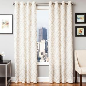 Softline Zenica Embroidered Grommet Top Curtain Panel