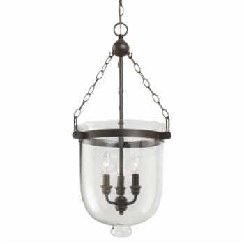 Sea Gull Lighting Westminster 3-Light Large Indoor Pendant - 14W in. Autumn Bronze