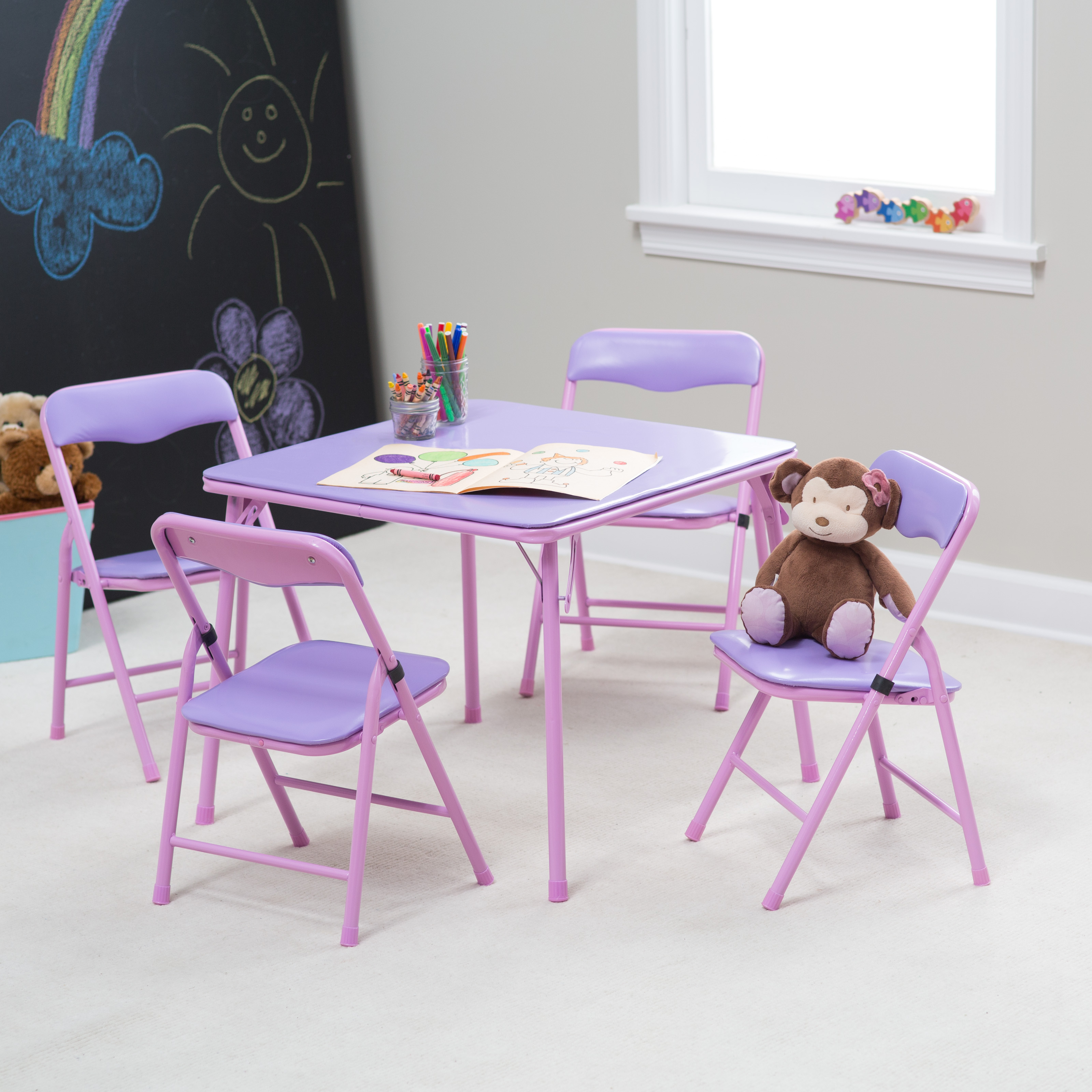 & Showtime Childrens Folding Table and Chair Set | Hayneedle