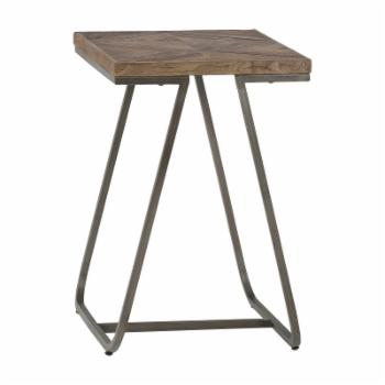 Brooklyn + Max Reagan Aged Elm Wood Chairside End Table