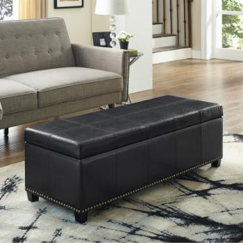 Brooklyn + Max Huntsville Leather Storage Ottoman Bench