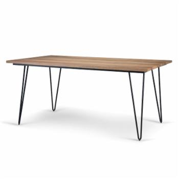 HN Home Paxton Mid-Century Modern Mango Wood Dining Table