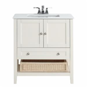 Simpli Home 4axcvccw 30 Cape Cod In Single Bathroom Vanity