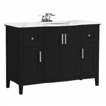 Brooklyn + Max Wilshire Rounded Front Single Sink Bathroom Vanity