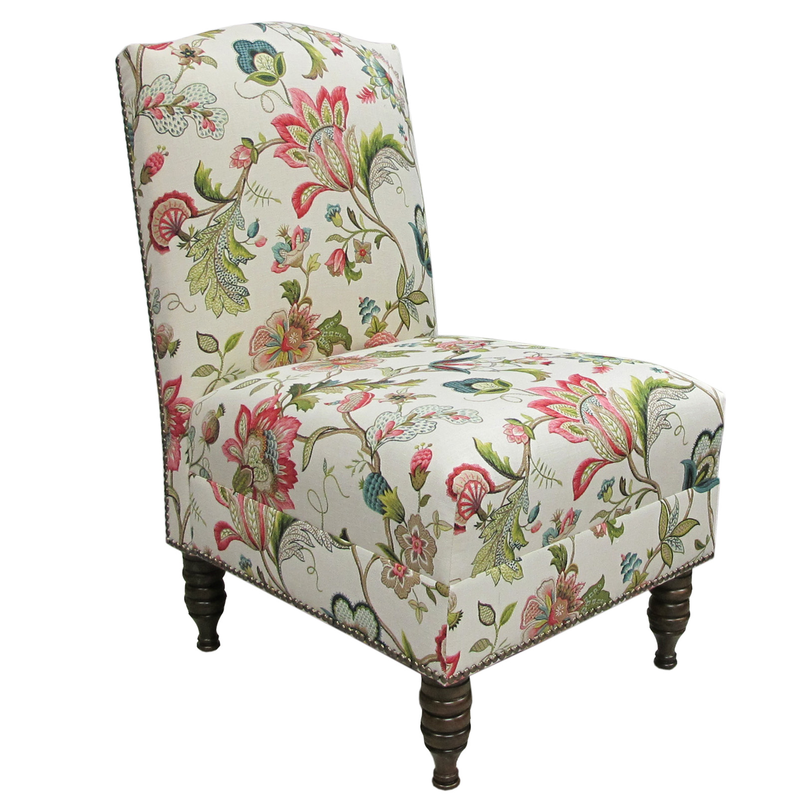 Brissac Jewel Armless Nail Button Chair | Hayneedle
