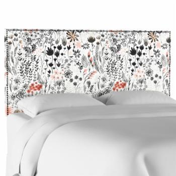 Skyline Furniture Winter Botanical Nail Button Upholstered Headboard