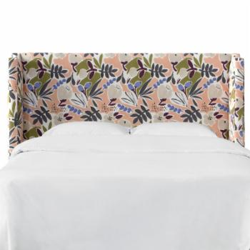 Skyline Furniture Parker Floral Wingback Upholstered Headboard