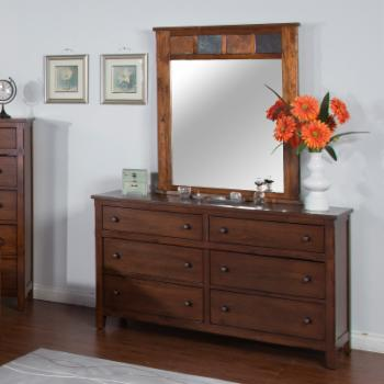 Sunny Designs Santa Fe 6 Drawer Dresser with Optional Mirror