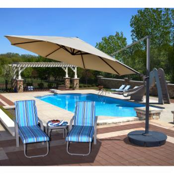 Island Umbrella Victoria 13 ft. Octagonal Cantilever Patio Umbrella