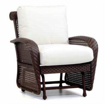 South Sea Outdoor Living Martinique Single Seat Wicker Glider with Cushion