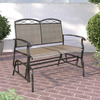 CorLiving Steel/Mesh Double Patio Glider
