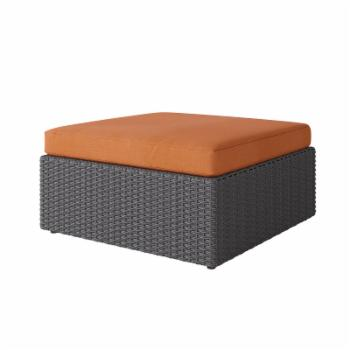 CorLiving Brisbane Resin Wicker Oversized Patio Ottoman