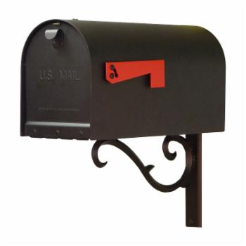 Special Lite Products Titan Aluminum Curbside Mailbox with Sorrento Mailbox Mounting Bracket