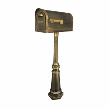 Special Lite Products Classic Curbside Mailbox with Tacoma Mailbox Post Unit
