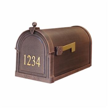 Special Lite Products Berkshire Curbside Post Mount Mailbox with Front Numbers