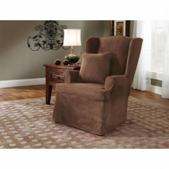 Sure Fit Soft Suede Wing Chair Slipcovers