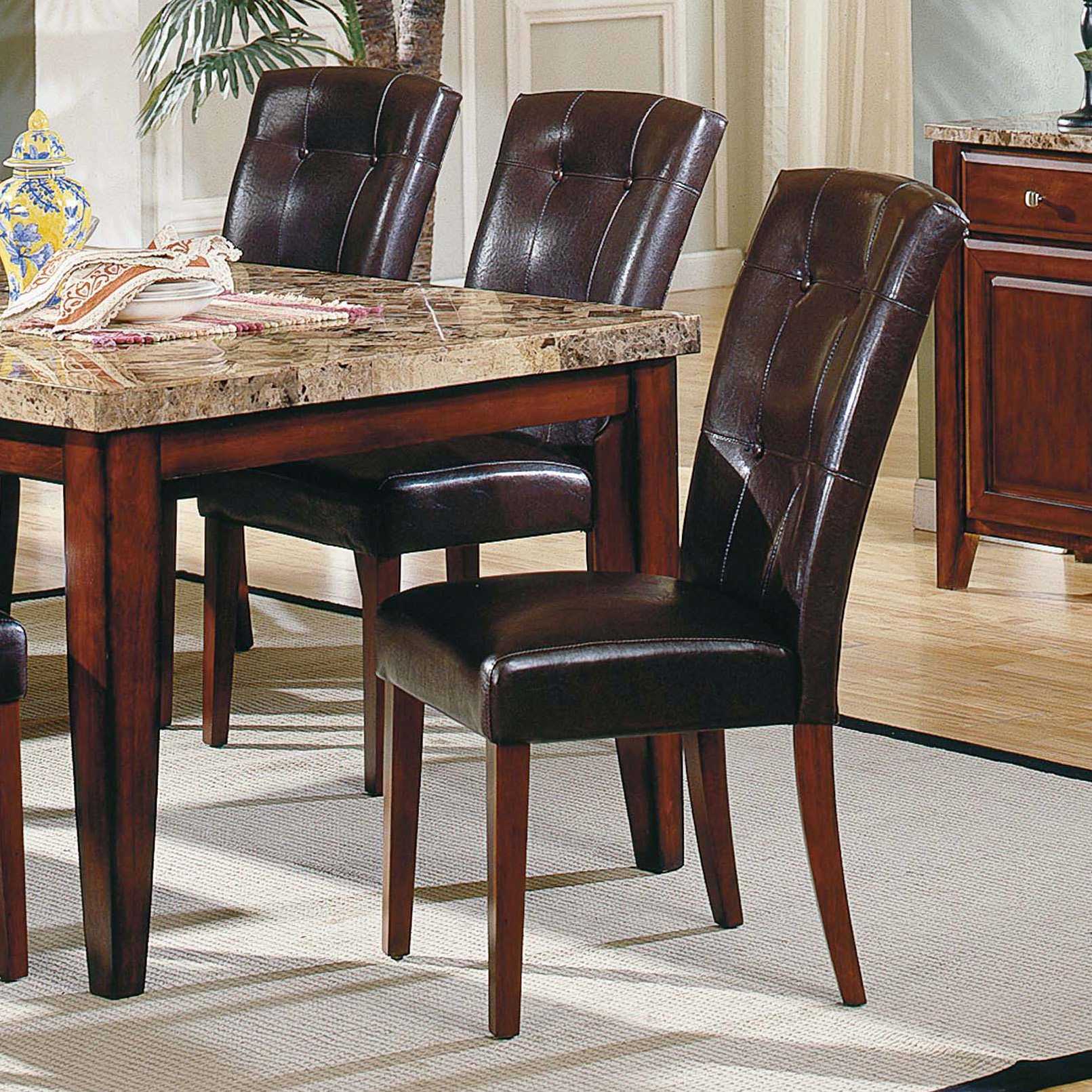 Steve Silver Tournament Arm Chairs With Casters Cherry Set Of - Parsons pub table
