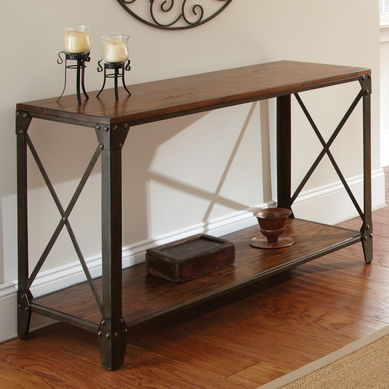 Steve Silver Winston Sofa Table Distressed Tobacco