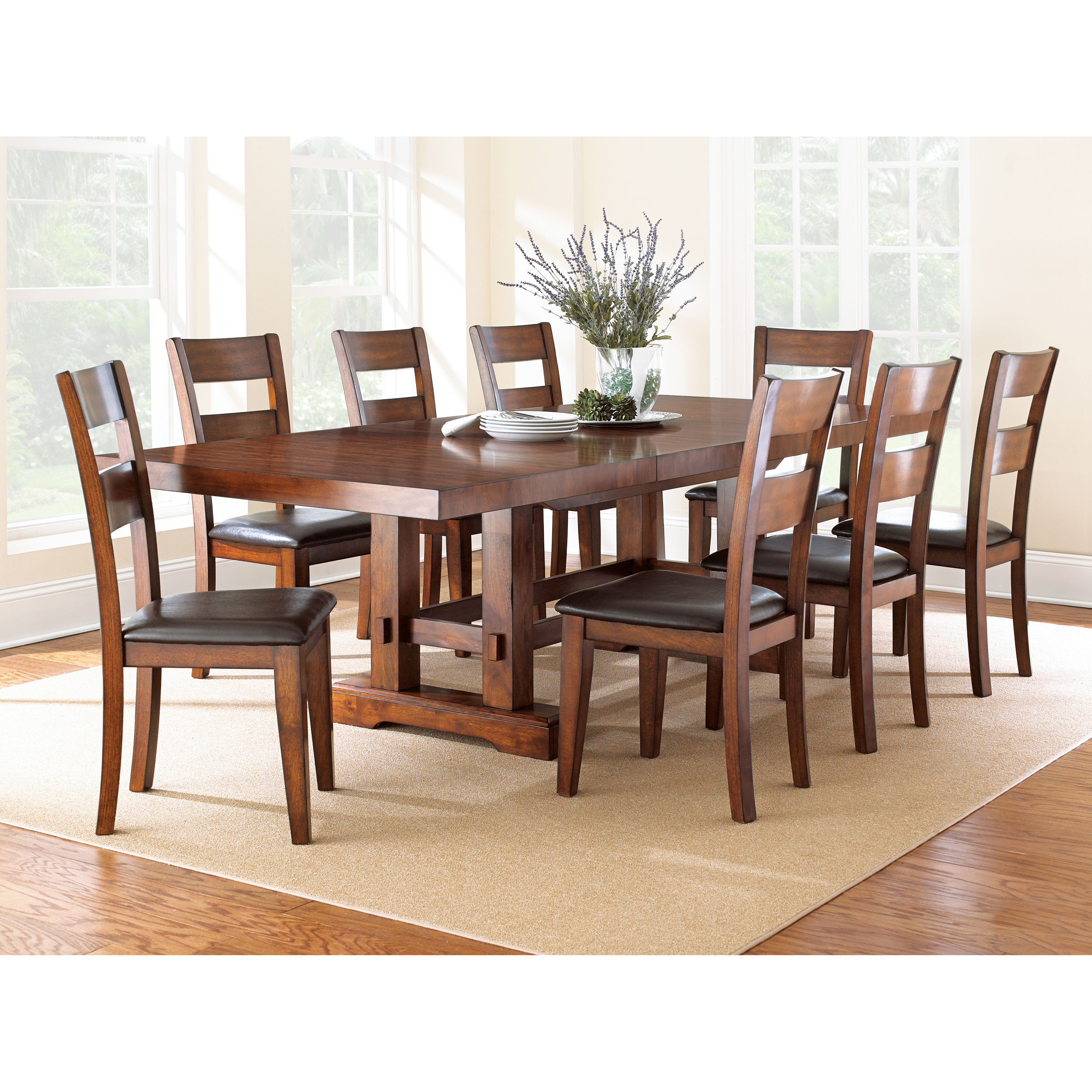 Beautiful Steve Silver Zappa 9 Piece Dining Table Set   Medium Cherry | Hayneedle