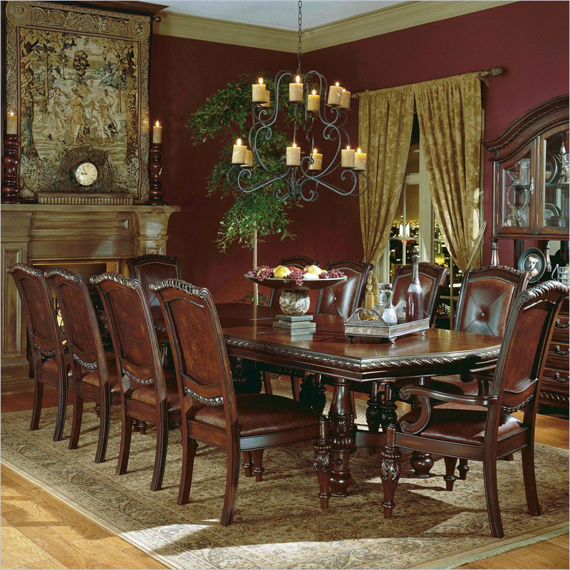 steve silver antoinette 11 piece dining set - dining table sets at