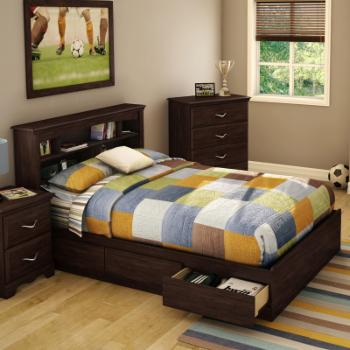 South Shore Willow Full Headboard with Optional Storage Bed